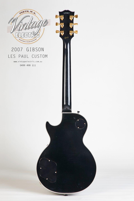 2007 Gibson Les Paul Custom Black Back of Guitar