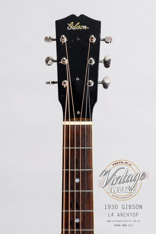 1930 Gibson L4 Headstock