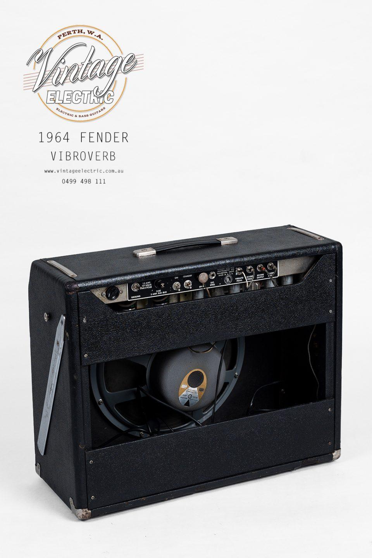1964 Fender Vibroverb Blackface Back