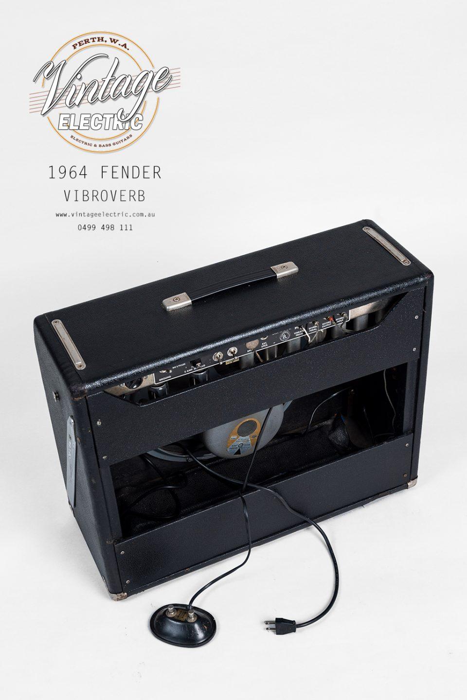 1964 Fender Vibroverb Blackface Back Top