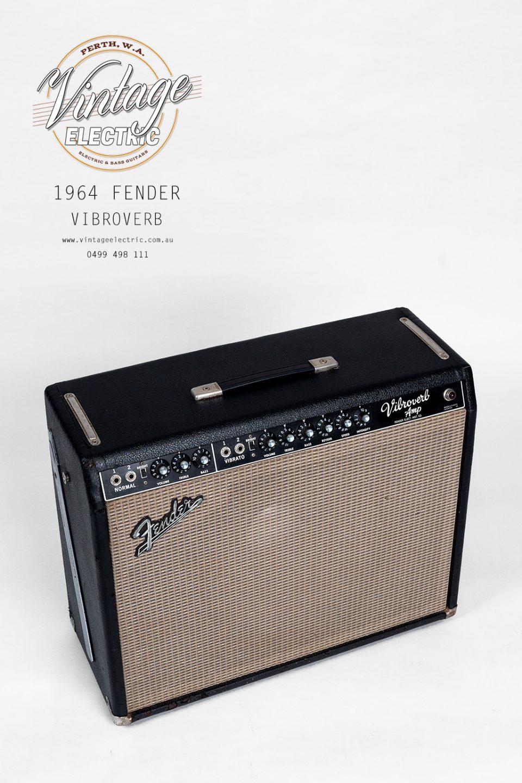 1964 Fender Vibroverb Blackface Top