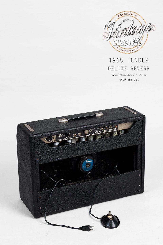 1965 Fender Deluxe Reverb Blackface Rear