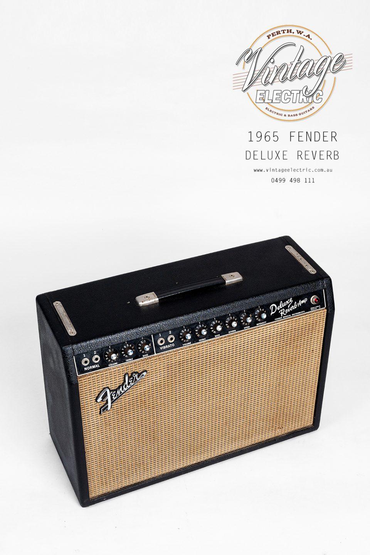 1965 Fender Deluxe Reverb Blackface Top