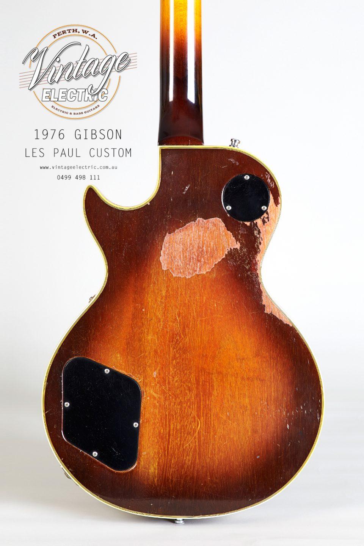 1976 Gibson Les Paul Custom Sunburst Back of Body