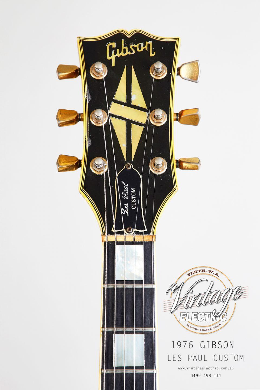 1976 Gibson Les Paul Custom Sunburst Headstock