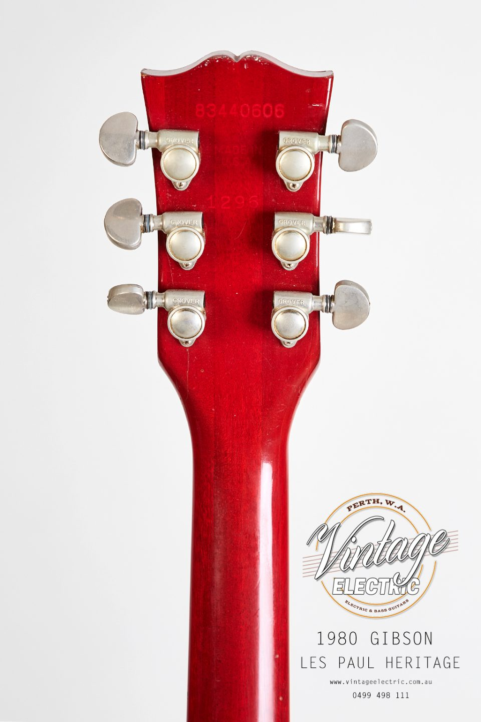 1980 Gibson Les Paul Heritage Back of Headstock