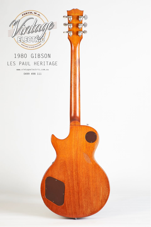 1980 Gibson Les Paul Heritage Elite Back of Guitar