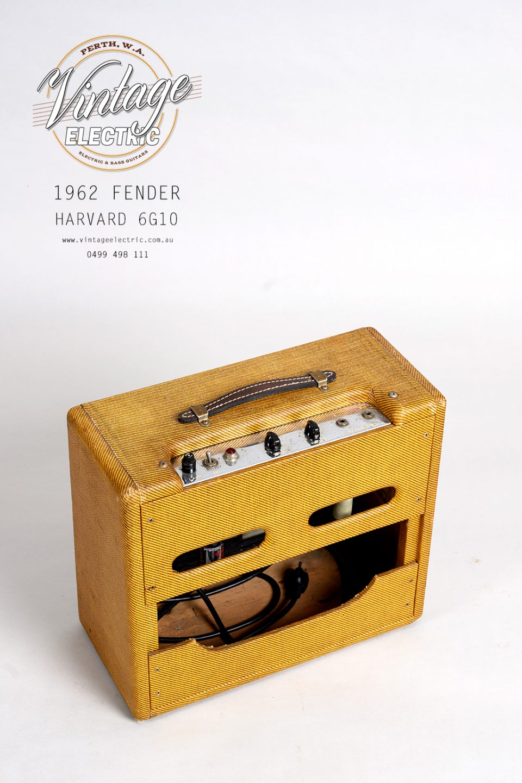 1962 Fender Harvard 6G10 Back Top