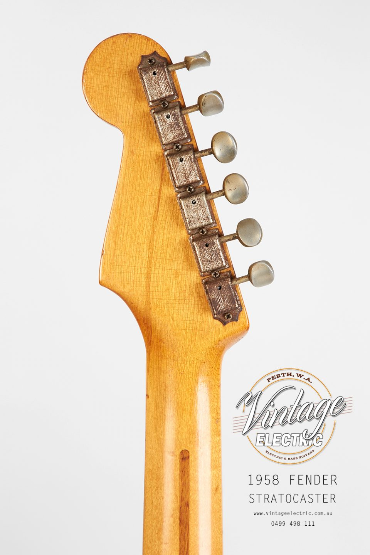 1958 Fender Stratocaster Back of Headstock