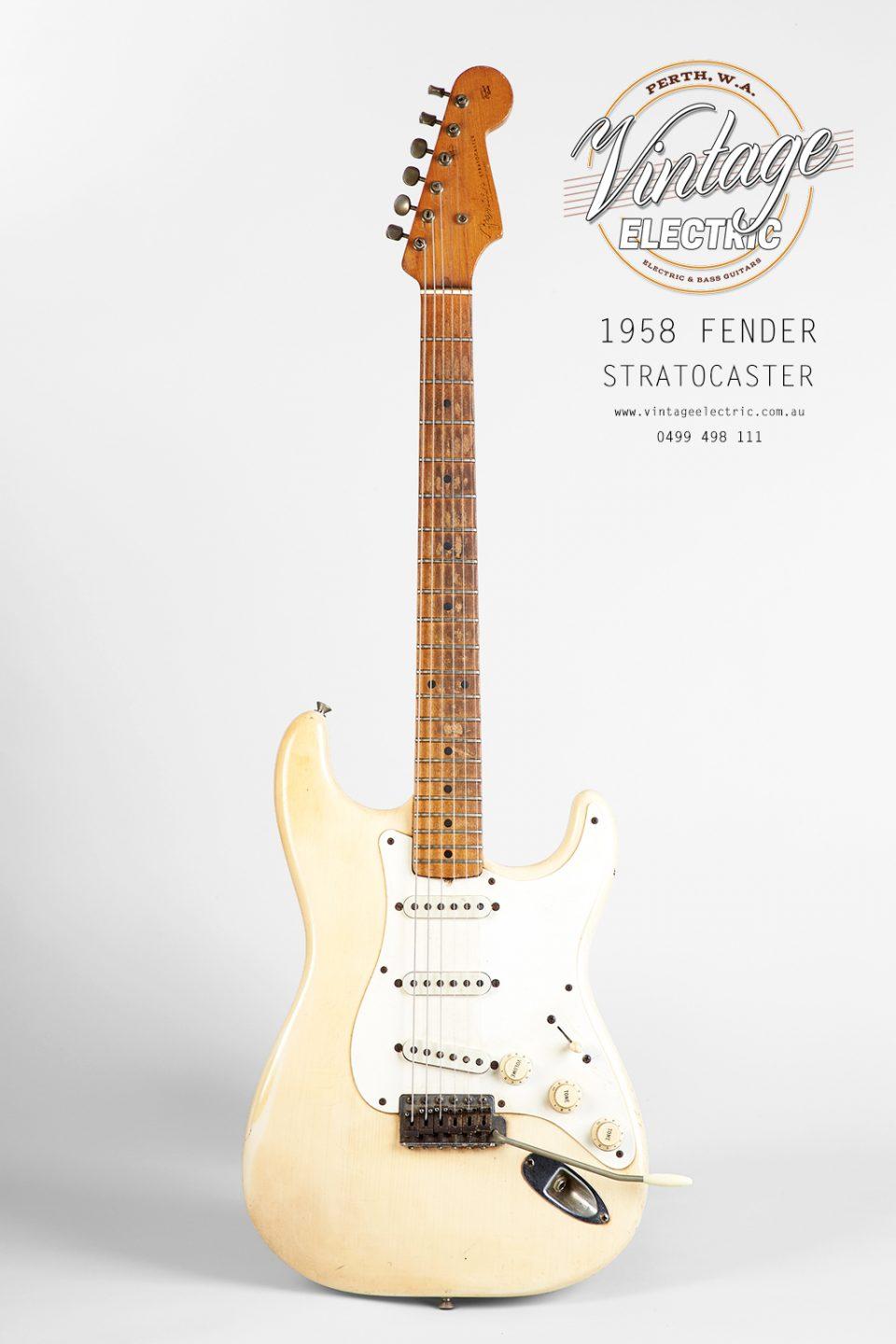1958 Fender Stratocaster Olympic White