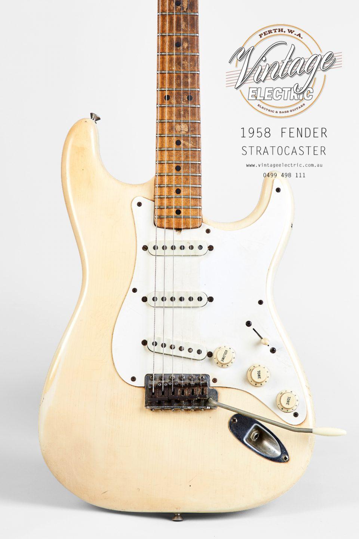 1958 Fender Stratocaster Olympic White Body