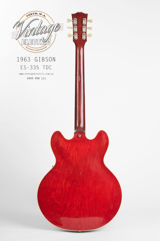 1963 Gibson 335 TDC Rear Guitar
