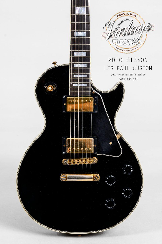 2010 Gibson Les Paul Custom Black Body
