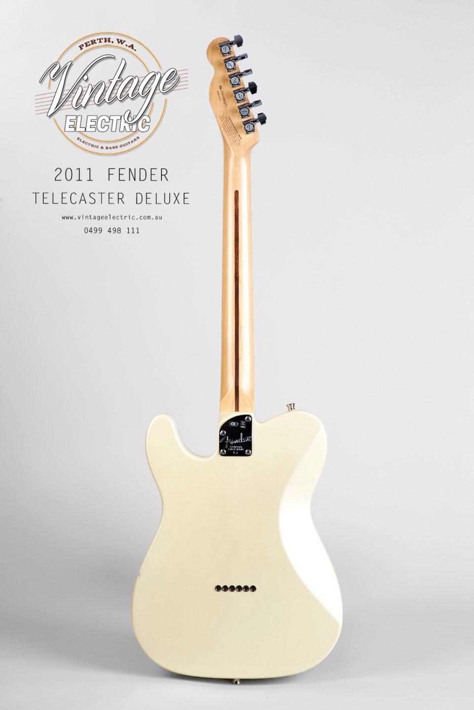 2011 Fender Telecaster White Deluxe Back