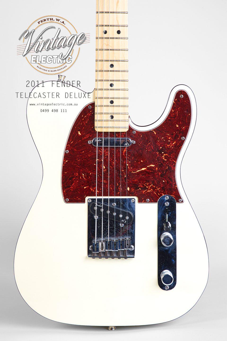 2011 Fender Telecaster White Deluxe Body
