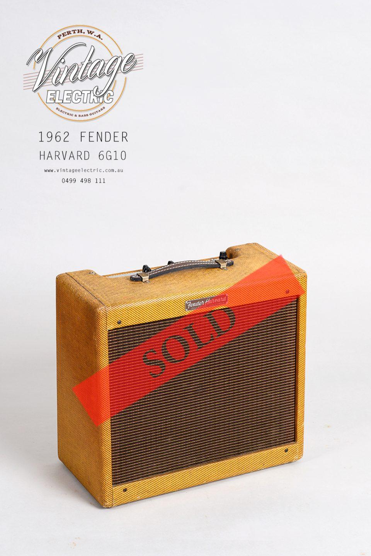 1962 Fender Harvard 6G10 Large SOLD